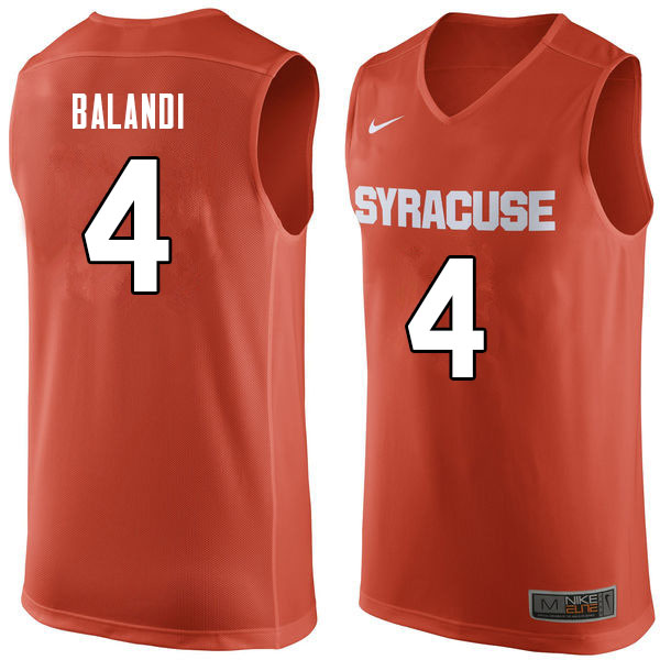 Men #4 Antonio Balandi Syracuse Orange College Basketball Jerseys Sale-Orange