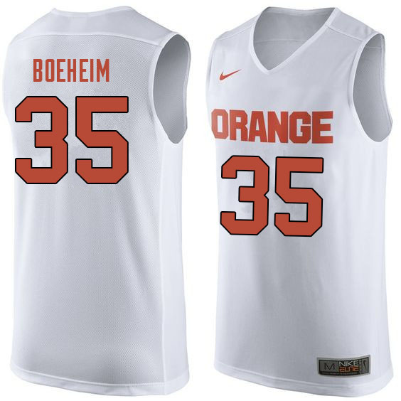 Men #35 Buddy Boeheim Syracuse White College Basketball Jerseys Sale-White