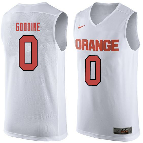 Men #0 Brycen Goodine Syracuse White College Basketball Jerseys Sale-Orange