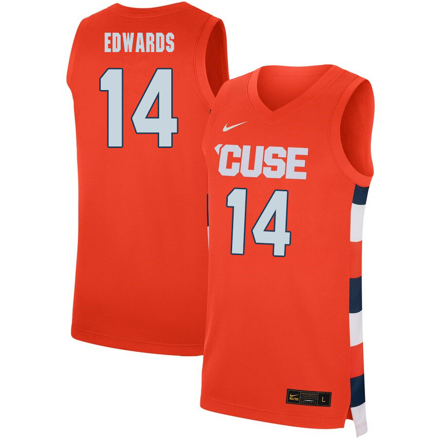 2020 Men #14 Jesse Edwards Syracuse Orange College Basketball Jerseys Sale-Orange