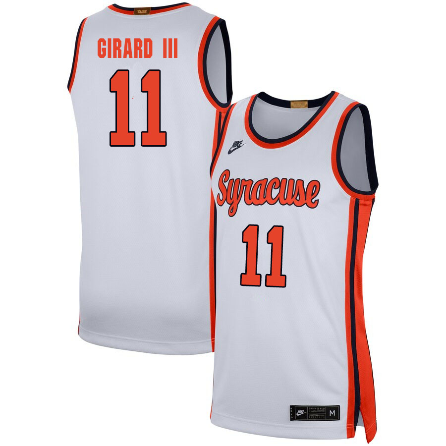 2020 Men #11 Joseph Girard III Syracuse Orange College Basketball Jerseys Sale-White