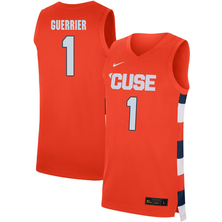 2020 Men #1 Quincy Guerrier Syracuse Orange College Basketball Jerseys Sale-Orange
