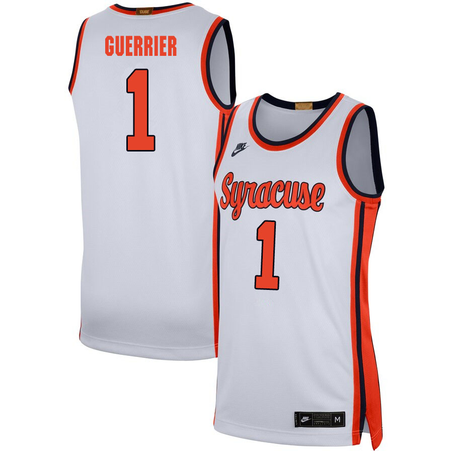 2020 Men #1 Quincy Guerrier Syracuse Orange College Basketball Jerseys Sale-White