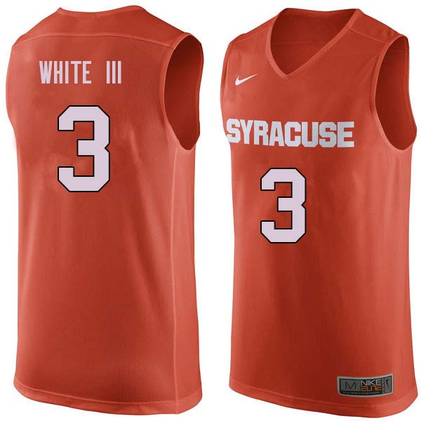 Men #3 Andrew White III Syracuse Orange College Basketball Jerseys Sale-Orange
