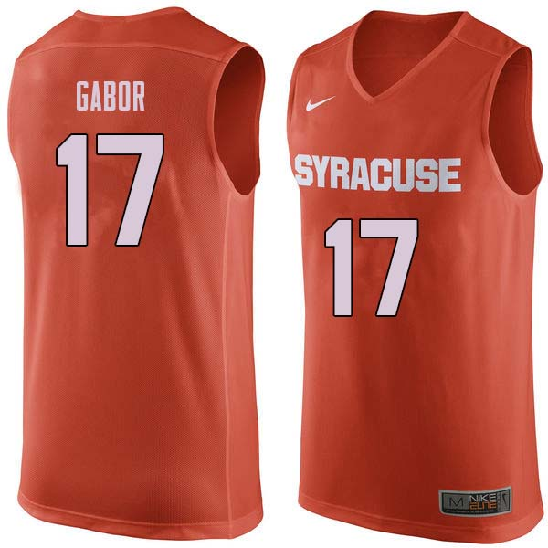 Men #17 Billy Gabor Syracuse Orange College Basketball Jerseys Sale-Orange