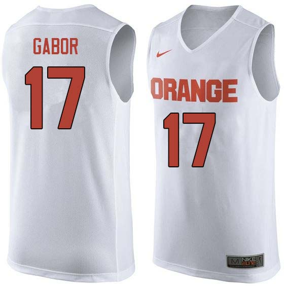 Men #17 Billy Gabor Syracuse White College Basketball Jerseys Sale-White