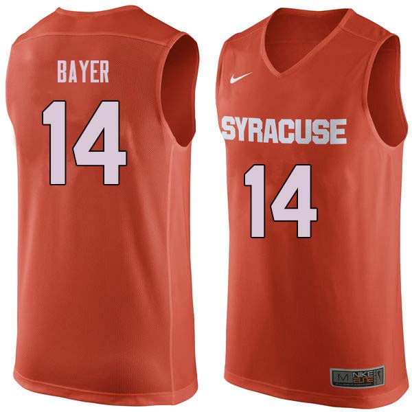 Men #14 Braedon Bayer Syracuse Orange College Basketball Jerseys Sale-Orange