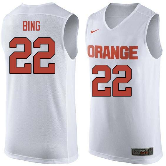 Men #22 Dave Bing Syracuse White College Basketball Jerseys Sale-White