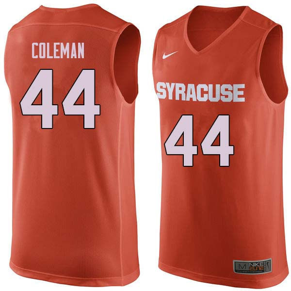 Men #44 Derrick Coleman Syracuse Orange College Basketball Jerseys Sale-Orange