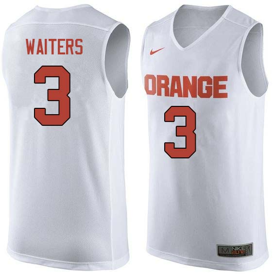 Men #3 Dion Waiters Syracuse White College Basketball Jerseys Sale-White