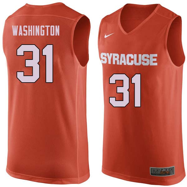 Men #31 Dwyane Washington Syracuse Orange College Basketball Jerseys Sale-Orange