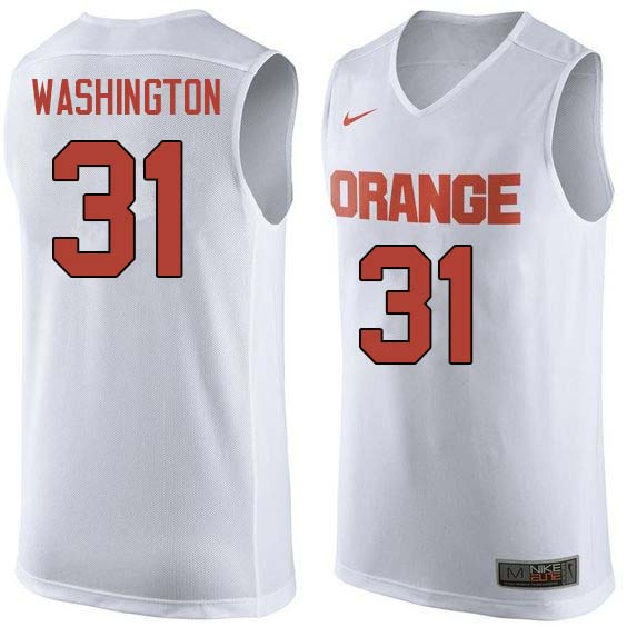 Men #31 Dwyane Washington Syracuse White College Basketball Jerseys Sale-White
