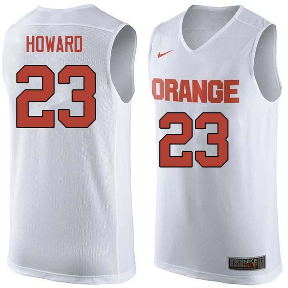 Men #23 Frank Howard Syracuse White College Basketball Jerseys Sale-White