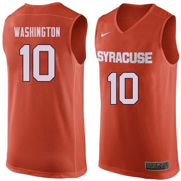 Men #10 Howard Washington Syracuse Orange College Basketball Jerseys Sale-Orange