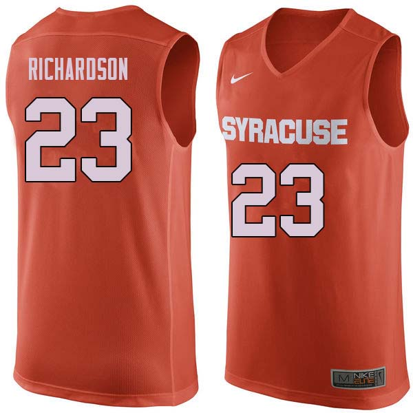 Men #23 Malachi Richardson Syracuse Orange College Basketball Jerseys Sale-Orange