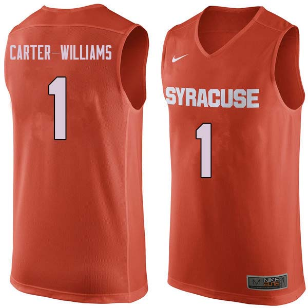Men #1 Michael Carter-Williams Syracuse Orange College Basketball Jerseys Sale-Orange