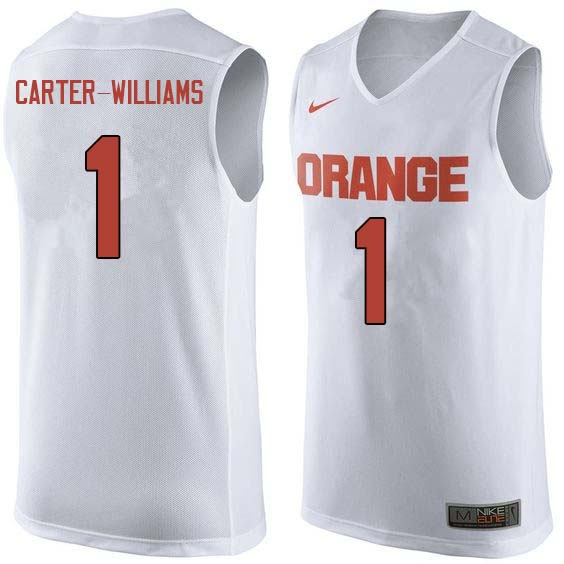 Men #1 Michael Carter-Williams Syracuse White College Basketball Jerseys Sale-White