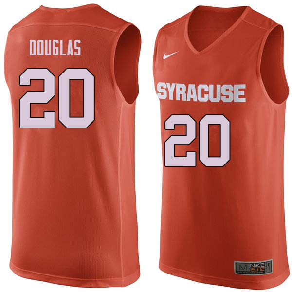 Men #20 Sherman Douglas Syracuse Orange College Basketball Jerseys Sale-Orange