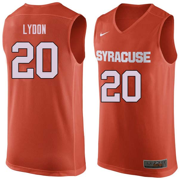 Men #20 Tyler Lydon Syracuse Orange College Basketball Jerseys Sale-Orange