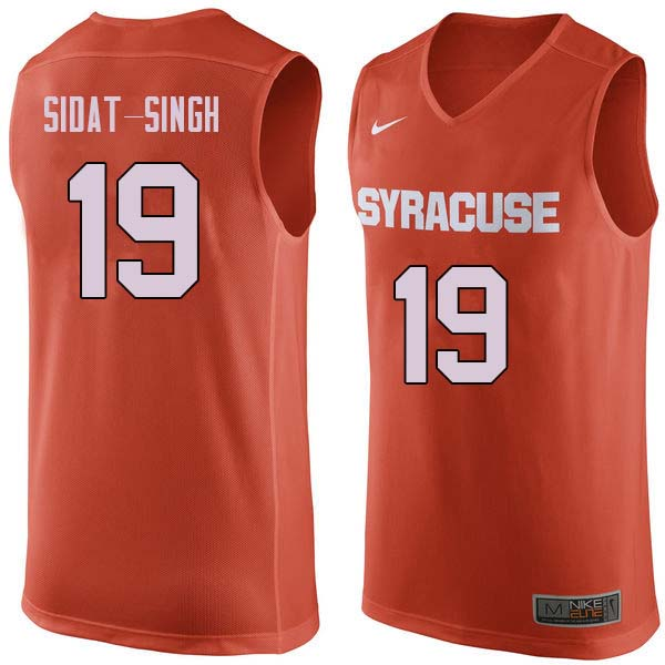Men #19 Wilmeth Sidat-Singh Syracuse Orange College Basketball Jerseys Sale-Orange