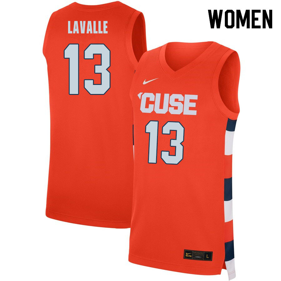 2020 Women #13 Chris LaValle Syracuse Orange College Basketball Jerseys Sale-Orange