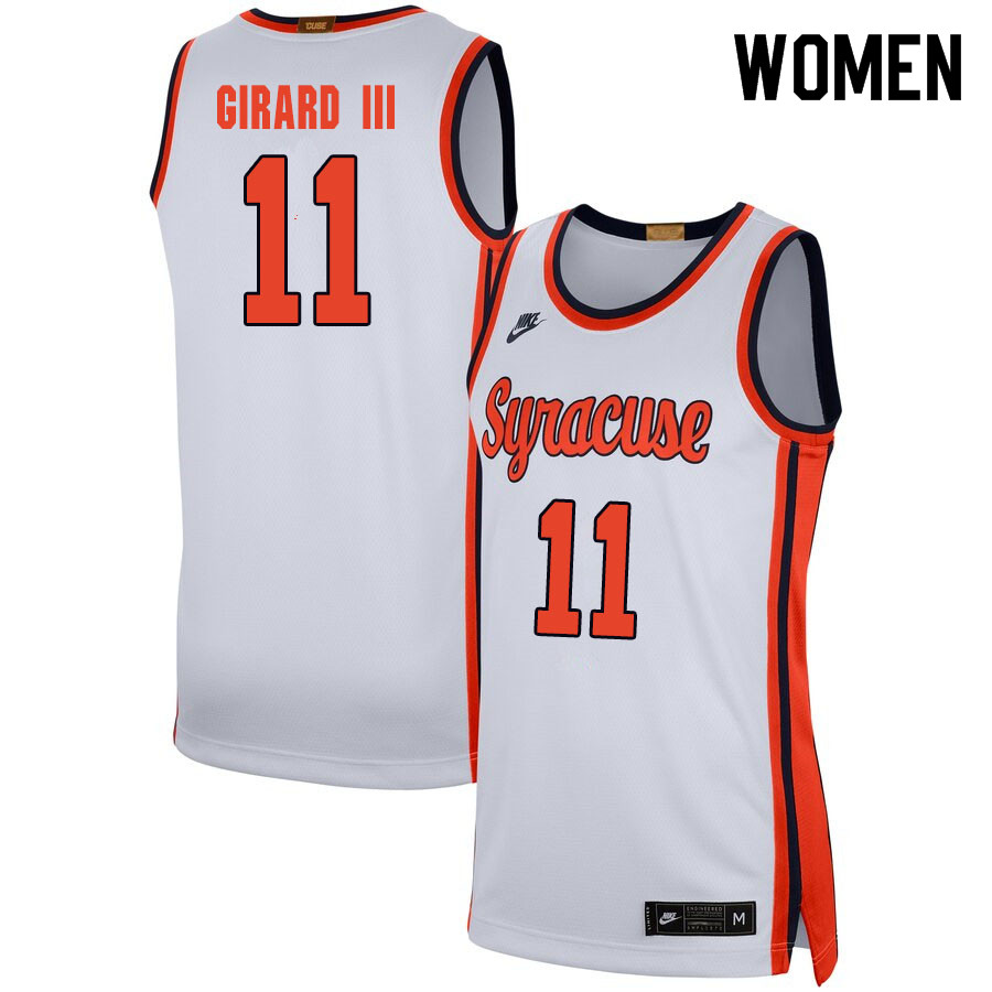 2020 Women #11 Joseph Girard III Syracuse Orange College Basketball Jerseys Sale-White