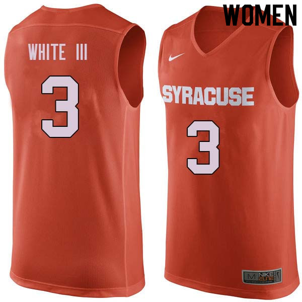 Women #3 Andrew White III Syracuse Orange College Basketball Jerseys Sale-Orange