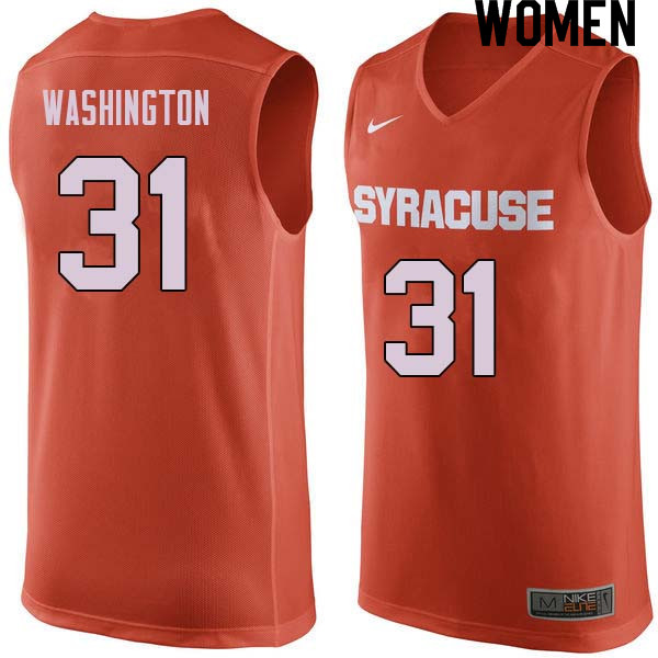 Women #31 Dwyane Washington Syracuse Orange College Basketball Jerseys Sale-Orange