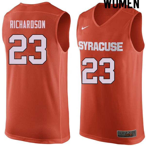 Women #23 Malachi Richardson Syracuse Orange College Basketball Jerseys Sale-Orange