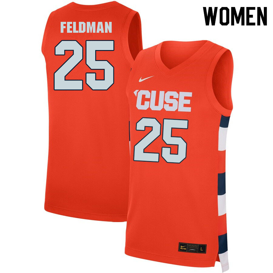Women #25 Shane Feldman Syracuse Orange College Basketball Jerseys Sale-Orange