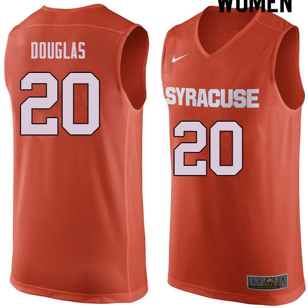 Women #20 Sherman Douglas Syracuse Orange College Basketball Jerseys Sale-Orange
