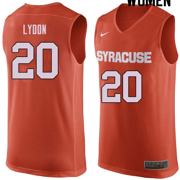Women #20 Tyler Lydon Syracuse Orange College Basketball Jerseys Sale-Orange