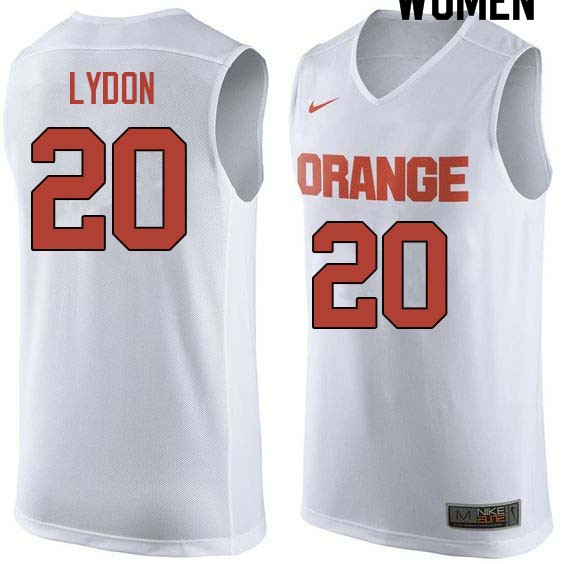 Women #20 Tyler Lydon Syracuse White College Basketball Jerseys Sale-White