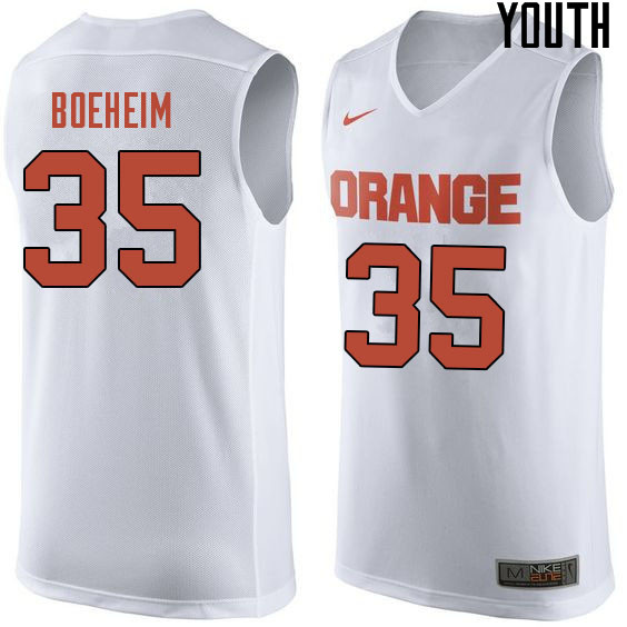 Youth #35 Buddy Boeheim Syracuse White College Basketball Jerseys Sale-White
