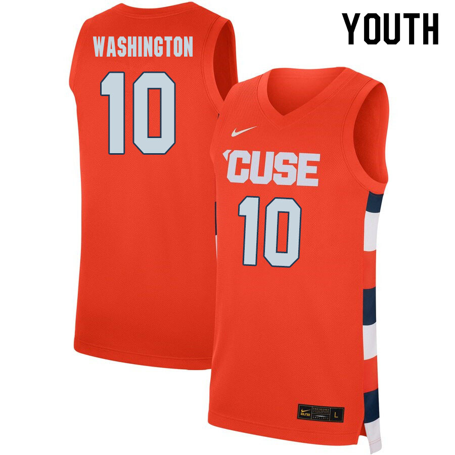 2020 Youth #10 Howard Washington Syracuse Orange College Basketball Jerseys Sale-Orange