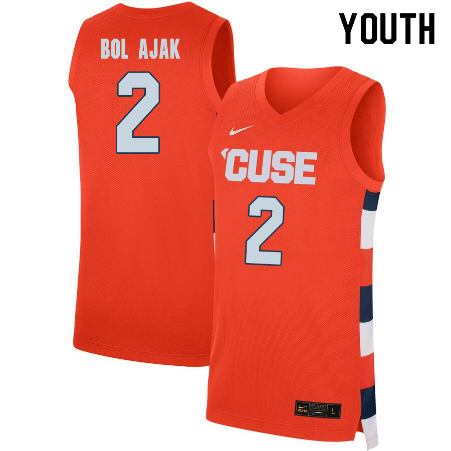 2020 Youth #2 John Bol Ajak Syracuse Orange College Basketball Jerseys Sale-Orange