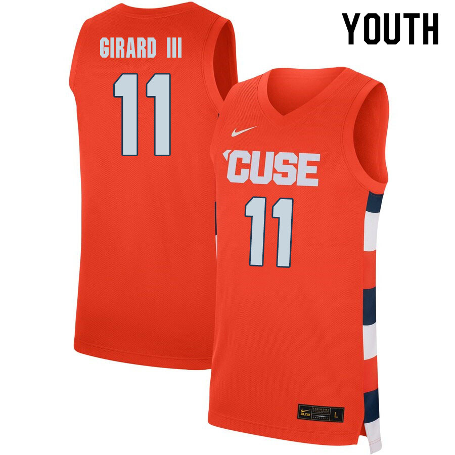 2020 Youth #11 Joseph Girard III Syracuse Orange College Basketball Jerseys Sale-Orange