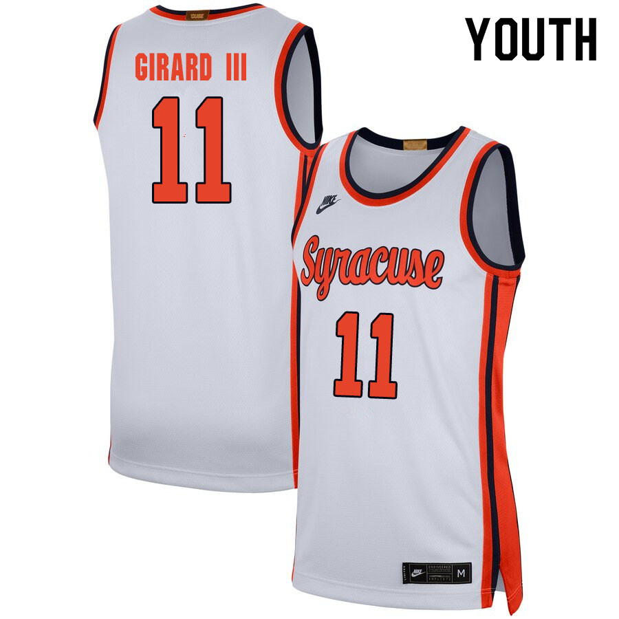 2020 Youth #11 Joseph Girard III Syracuse Orange College Basketball Jerseys Sale-White