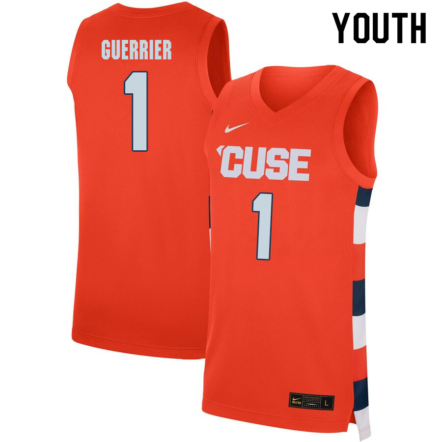 2020 Youth #1 Quincy Guerrier Syracuse Orange College Basketball Jerseys Sale-Orange