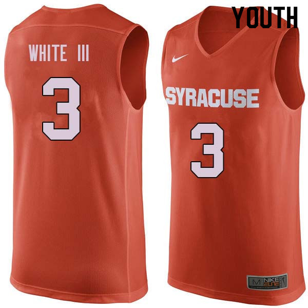 Youth #3 Andrew White III Syracuse Orange College Basketball Jerseys Sale-Orange