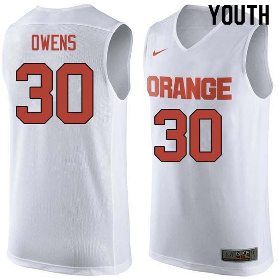 Youth #30 Billy Owens Syracuse White College Basketball Jerseys Sale-White