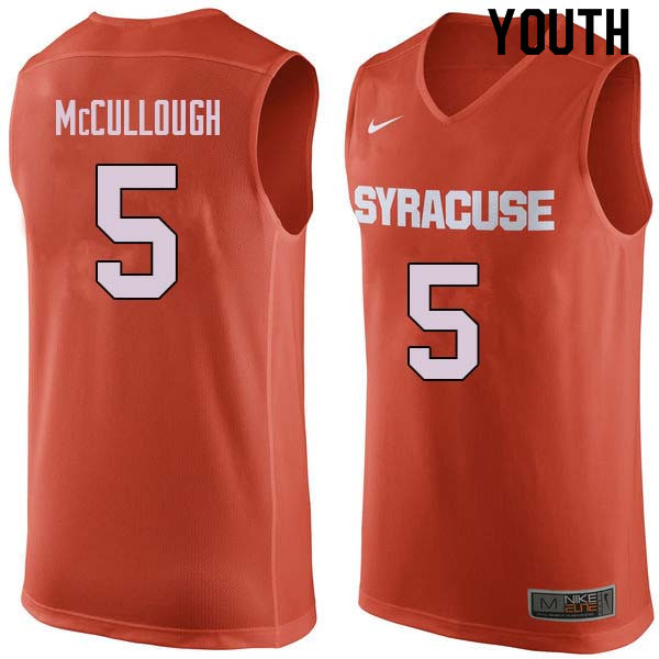Youth #5 Chris McCullough Syracuse Orange College Basketball Jerseys Sale-Orange