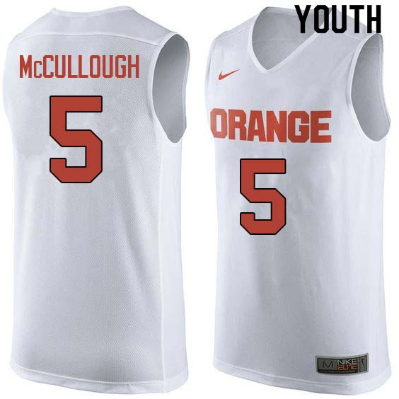 Youth #5 Chris McCullough Syracuse White College Basketball Jerseys Sale-White