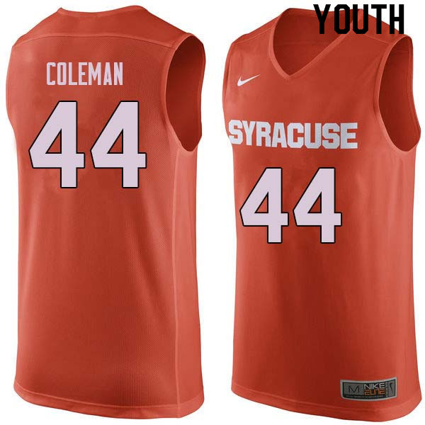 Youth #44 Derrick Coleman Syracuse Orange College Basketball Jerseys Sale-Orange