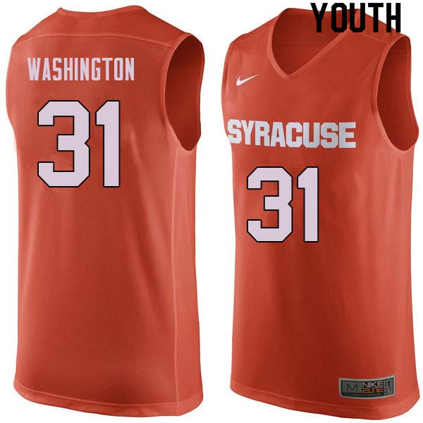 Youth #31 Dwyane Washington Syracuse Orange College Basketball Jerseys Sale-Orange