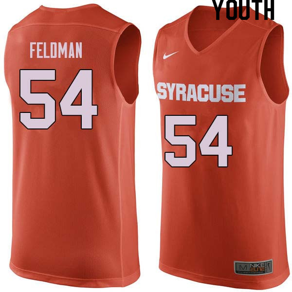 Youth #54 Ky Feldman Syracuse Orange College Basketball Jerseys Sale-Orange