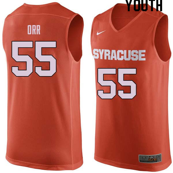 Youth #55 Louis Orr Syracuse Orange College Basketball Jerseys Sale-Orange