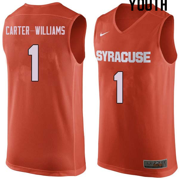 Youth #1 Michael Carter-Williams Syracuse Orange College Basketball Jerseys Sale-Orange