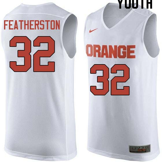 Youth #32 Ray Featherston Syracuse White College Basketball Jerseys Sale-White