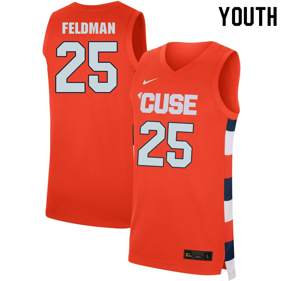 Youth #25 Shane Feldman Syracuse Orange College Basketball Jerseys Sale-Orange